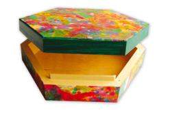 Boîte hexagonale en bois - Boîtes et coffrets – 10doigts.fr - 2
