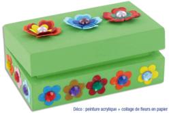 Boite rectangulaire en bois - Boîtes et coffrets – 10doigts.fr - 2