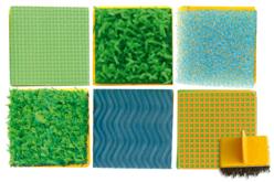 Tampons texturés effets matières - Set de 6 - Tampons – 10doigts.fr - 2