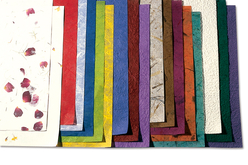 Feuilles de papiers naturels assortis - 18 feuilles