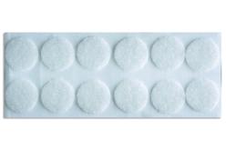Pastilles velcro rondes adhésives - Lot de 12 - Feutrine, feutre, toile de jute – 10doigts.fr
