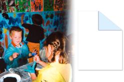 Papier Blanc-Bleu pour peinture - Rouleau de 10 mètres - Rouleaux et fresques – 10doigts.fr - 2