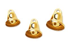 Clochettes métalliques dorées - Set de 30 - Grelots et clochettes – 10doigts.fr - 2