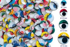 Yeux mobiles colorés avec cils - Yeux mobiles – 10doigts.fr