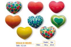 Moule 8 coeurs - Moules pour plâtre, savon, béton ... – 10doigts.fr