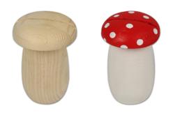 Tirelire champignon en bois