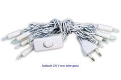 Guirlande électrique de 10 ampoules, avec interrupteur