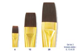 Pinceaux à poils synthétiques - Pinceaux poils synthétiques – 10doigts.fr - 2