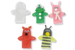 Marionnettes en coton - Lot de 6 - Coton, lin – 10doigts.fr - 2