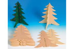 Sapin à emboîter en bois naturel - Décorations de Noël en bois – 10doigts.fr - 2