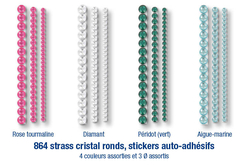 Stickers strass ronds