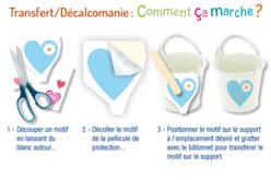 """Transferts décalcomanies """"Cœurs fantaisies""""- 3 planches - Transferts, décalcomanies – 10doigts.fr - 2"""