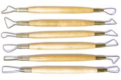 Set de 6 mirettes assorties avec manches en bois