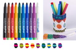 Feutres magiques Bicolores - 10 feutres - Feutres à effets – 10doigts.fr