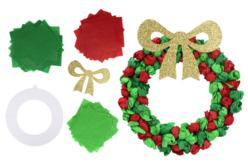 Couronne de Noël en papier de soie - Lot de 6 - Couronnes de Noël – 10doigts.fr