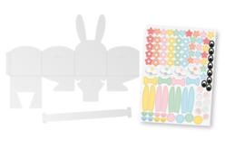 Paniers lapins + gommettes - Lot de 4 - Boîtes en carton – 10doigts.fr - 2