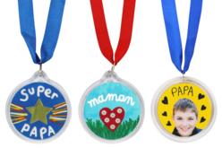 Médailles à personnaliser - Set de 6 - Plastique Transparent – 10doigts.fr - 2