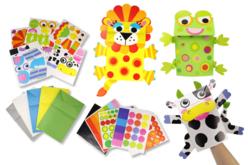 Marionnettes animaux - Set de 5 - Kits activités jeux à fabriquer – 10doigts.fr - 2