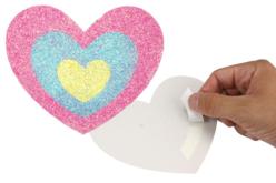 Cartes à sabler coeurs et fleurs - 6 cartes - Sable coloré – 10doigts.fr - 2