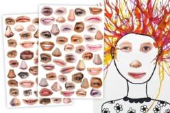 Gommettes visages réalistes et rigolos - 2 planches - Gommettes Yeux et Visages – 10doigts.fr - 2