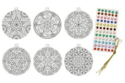 Boule de Noël Mandala à colorier - Mandalas – 10doigts.fr - 2