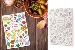 Carnet de recettes à colorier