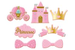 Motifs Princesses en bois décoré