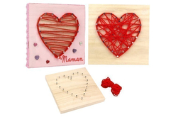 String Art - Kit Coeur - String Art – 10doigts.fr