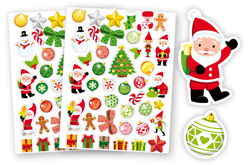 Gommettes de Noël - 2 planches - Gommettes Noël – 10doigts.fr - 2