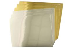 Papier épais miroirs or et argent  - 6 feuilles Format A4 - Papiers épais – 10doigts.fr