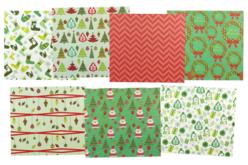 Papiers de Noël - Set de 7 feuilles - Décorations Noël – 10doigts.fr