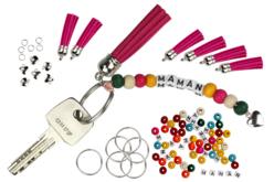 """Porte-clés """"Maman"""" - Kit pour 6 réalisations - Kits bijoux – 10doigts.fr"""