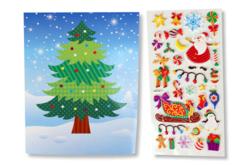 Cartes de Noël +  stickers - 2 cartes - Cartes de Noël – 10doigts.fr - 2