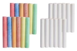 Craies blanches et couleurs - 24 craies - Craies, tableaux, ardoises – 10doigts.fr - 2