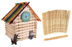 Bâtonnets crantés en bois pour construction - Bâtonnets, tiges, languettes – 10doigts.fr