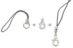 Attaches gri-gri noires - Porte-clés pour bijoux – 10doigts.fr - 2