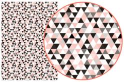 Papier Décopatch Triangles - 3 feuilles  N°699 - Papiers Décopatch – 10doigts.fr
