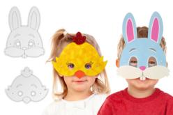 Masques de Pâques - 3 poussins + 3 lapins - Masques – 10doigts.fr