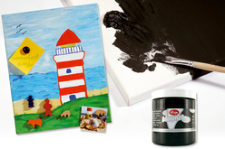Peinture magnétique noire - 250 ml - Peinture Magnétique – 10doigts.fr - 2