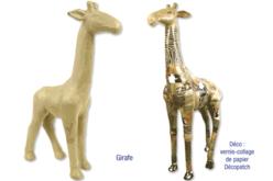 Girafe en papier mâché 15 cm - Animaux en papier mâché – 10doigts.fr - 2