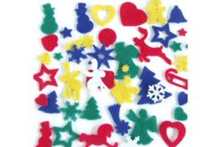 Formes feutrine de Noël - 170 motifs à coller - Feutrine, feutre, toile de jute – 10doigts.fr - 2