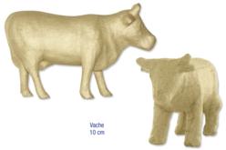 Vache en carton papier mâché