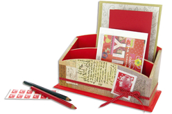 Range-courrier à 2 compartiments en bois - Range-courriers – 10doigts.fr - 2