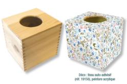 Boîte à mouchoirs cubique en bois - Boîte à mouchoirs – 10doigts.fr - 2