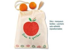 Grand sac coton à cordelette - Coton, lin – 10doigts.fr - 2