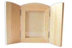 Cadre pliable en bois avec vitre - Cadres photos en bois – 10doigts.fr