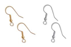 Crochets d'oreilles or ou argent - Lot de 6 - Boucles et pendentifs d'oreilles – 10doigts.fr