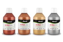 Peinture acrylique DARWI : couleurs métallisées brillantes