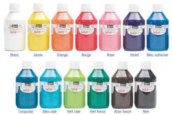 Peinture acrylique ultra brillante - 80 ou 250 ml - Acryliques scolaire – 10doigts.fr