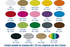 Carton ondulé 50 x 70 cm - couleurs au choix - Carton ondulé – 10doigts.fr - 2